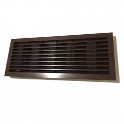 14-0114 Větrací mřížka dveřní 335x132 mm s límcem a síťkou, bílá