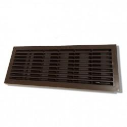 14-0121 Větrací mřížka dveřní 335x132 mm s žaluzií a síťkou, hnědá