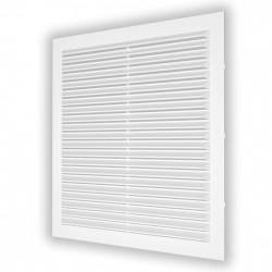 59-0073 Větrací mřížka plochá 138x138 mm se síťkou proti hmyzu, bílá