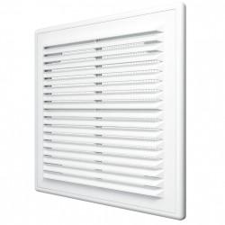 59-0079 Větrací mřížka 150x150 mm se sundavacím panelem a síťkou proti hmyzu, bílá