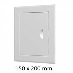 59-0205 Revizní dvířka vanová 150 x 150 mm s límcem, bílá