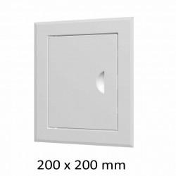 59-0207 Revizní dvířka vanová 200 x 200 mm s límcem, bílá