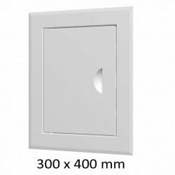59-0215 Revizní dvířka vanová 300 x 400 mm s límcem, bílá