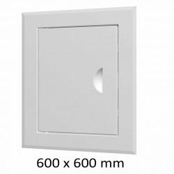 59-0229 Revizní dvířka vanová 600 x 600 mm s límcem, bílá