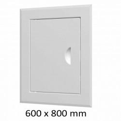 59-0230 Revizní dvířka vanová 600 x 800 mm s límcem, bílá