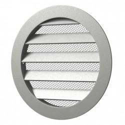 59-0999 Větrací hliníková mřížka s límcem d125 mm a síťkou, hliník