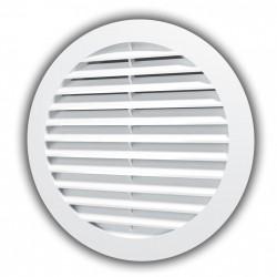 59-1041 Venkovní větrací mřížka s límcem d125 mm, bílá