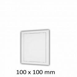 59-1316 Plastová revizní dvířka 100 x 100 mm s montážním límcem