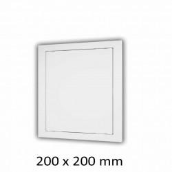 59-2849 Plastová revizní dvířka 200 x 200 mm s montážním límcem