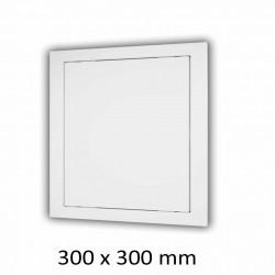 59-2859 Plastová revizní dvířka 300 x 300 mm s montážním límcem