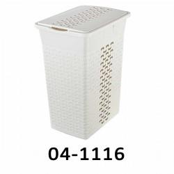 04-1116 Koš na prádlo BASK 35L - bílý