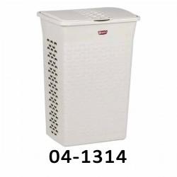 04-1314 Koš na prádlo BASK 55L - bílý