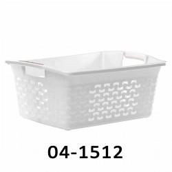 04-1512 Koš na prádlo BASK 30L - bílý