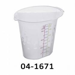 04-1671 Odměrka s měrkou 0,5 L