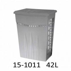 Koš na prádlo CASA 42L 15-1011 - stříbrný