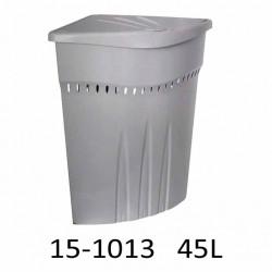 Koš na prádlo rohový CASA 45L 15-1013 - stříbrný