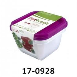 Nádoby na potraviny GET - sada 3 x 1,25 L 17-0928
