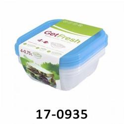 Nádoby na potraviny GET - sada 4 x 0,75 L 17-0935