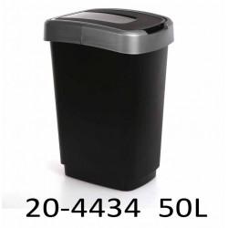Odpadkový koš KLIP 50L oboustranné víko 20-4434