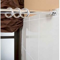 Plastová kolečka na koupelnové závěsy, bílá 36-1102