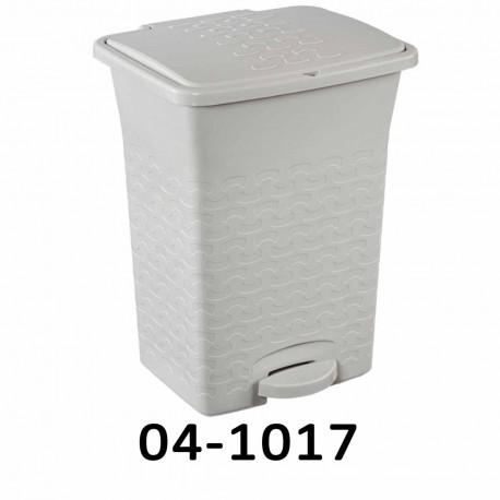 Odpadkový koš s pedálem BASK 10L - bílý 04-1017