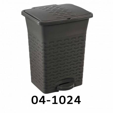 Odpadkový koš s pedálem BASK 10L - šedý 04-1024
