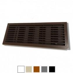 14-0121 Větrací mřížka dveřní 335x132 mm s límcem, regulovatelnou žaluzií a síťkou, bílá