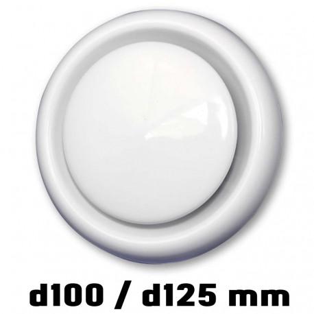 14-0367 Anemostat odvodní d100 mm, bílá