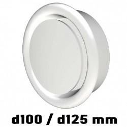 Anemostat odvodní s límcem d100 a d125 mm