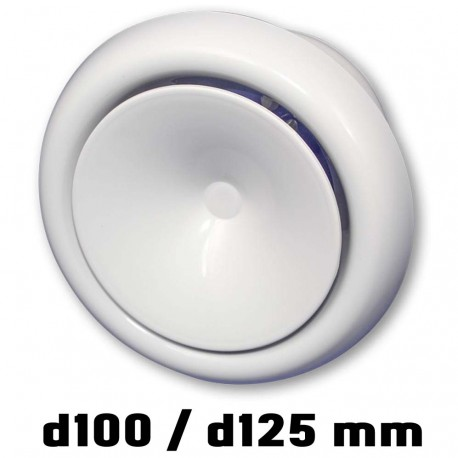 14-0442 Anemostat přívodní d100 mm, bílá