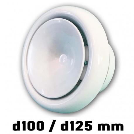 14-0428 Anemostat přívodní s límcem d100 mm, bílá