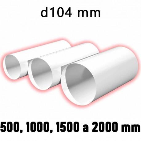 59-0147 Kulaté ventilační potrubí d100 délka 500 mm (vnější 104 mm)