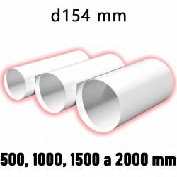 Kulaté ventilační potrubí d154 mm, různé délky
