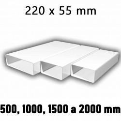 Ploché ventilační potrubí 220x55 mm - různé délky