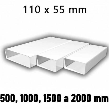 Ploché ventilační potrubí 110x55 mm, různé délky